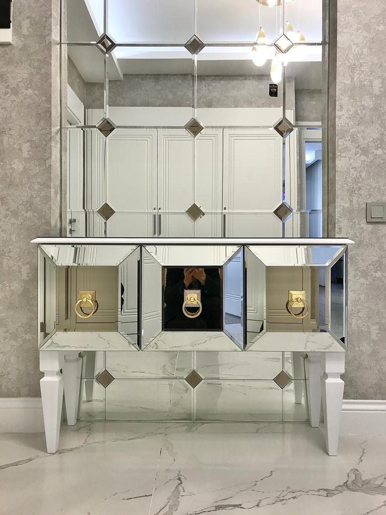 Aynacizade Ayna Cam Vitray Salon Aynası Dresuar Ayna Takımı
